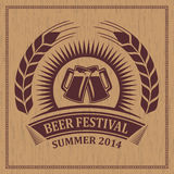 Vintage retro beer festival icon symbol - vector design Stock Photography