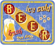 Vintage, retro beer sign Royalty Free Stock Photo