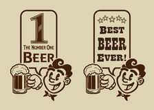 Vintage Retro Best Beer Character Royalty Free Stock Photo