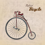 Vintage Retro Bicycle. /with hand drawn design | EPS10 Compatibility Required Royalty Free Stock Photos