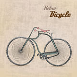 Vintage Retro Bicycle. /with hand drawn design | EPS10 Compatibility Required Stock Image