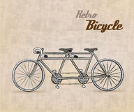 Vintage Retro Bicycle. /with hand drawn design | EPS10 Compatibility Required Royalty Free Stock Photography