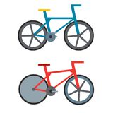 Vintage retro bicycle and style antique sport old fashion grunge flat pedal ride vector. Royalty Free Stock Photography