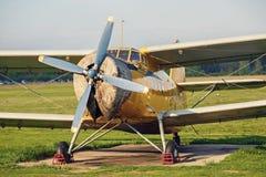 Vintage retro biplane Royalty Free Stock Image