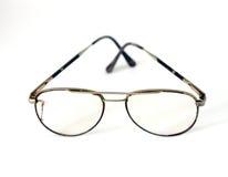 Vintage retro  black eyeglasses Royalty Free Stock Photos