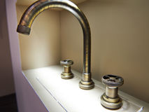 Vintage retro brass water tap faucet Royalty Free Stock Photo