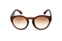 Vintage retro  brown sunglasses isolated on white. Royalty Free Stock Photo