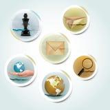 Vintage icons. Vintage retro business icon set Stock Photo