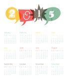 Vintage retro calendar 2015. Vector. Vintage calendar 2015. Vector illustration Royalty Free Stock Images