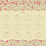 Vintage retro calender of 2013 new year vector Stock Image