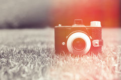 Vintage retro camera Stock Photos