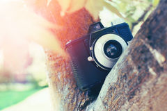 Vintage retro camera Stock Photo