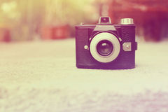 Vintage retro camera with color filters Stock Image