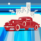 Vintage retro car background Royalty Free Stock Photo