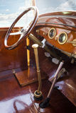 Vintage retro car interior Stock Image
