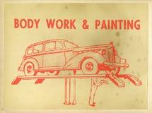 Vintage Retro Car Repair Poster Stock Photography
