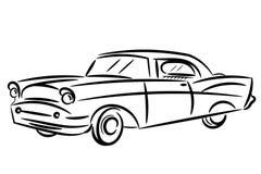 Vintage retro car stylized isolated Royalty Free Stock Image