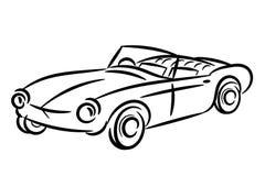 Vintage retro car stylized isolated Stock Images