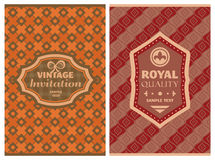 Vintage retro cards Royalty Free Stock Photo