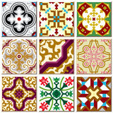 Vintage retro ceramic tile pattern set collection 004 Royalty Free Stock Photo
