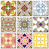 Vintage retro ceramic tile pattern set collection 005 Royalty Free Stock Photography