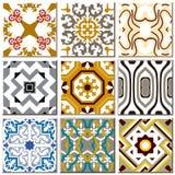 Vintage retro ceramic tile pattern set collection 008 Royalty Free Stock Photo
