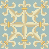 Vintage retro ceramic tile Stock Photography