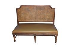 Vintage retro chair isolated on white Royalty Free Stock Photos