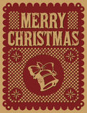 Vintage retro Christmas card. Street decoration - vector - Grunge effects can be easily removed Royalty Free Stock Photo