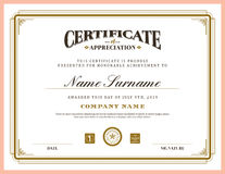 Vintage retro classic frame certificate background template Royalty Free Stock Image