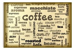 Coffee poster. Vintage retro coffee background with text Royalty Free Stock Images
