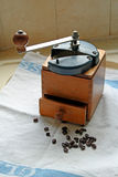Vintage retro coffee bean grinder Stock Images