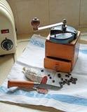 Vintage retro coffee bean grinder Royalty Free Stock Photos