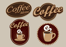 Vintage Retro Coffee Designs Royalty Free Stock Photography