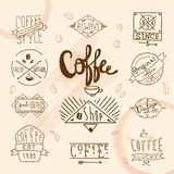 Vintage retro coffee labels Royalty Free Stock Images