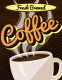 Vintage Retro Coffee Sign Stock Image