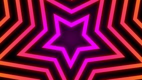 Vintage Retro Colorful Glowing Star Tunnel Background Loop.