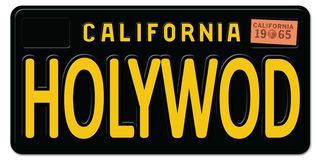 Vintage retro de la placa de Hollywood California libre illustration
