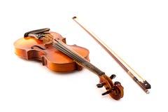 Vintage retro del violín aislado en blanco Fotografía de archivo libre de regalías