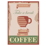 Vintage retro design hot fresh coffee promotion flyer and cover Royalty Free Stock Image