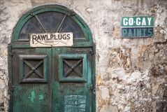 Vintage retro design in la valletta old town street malta. Vintage retro design architecture in la valletta old town street malta Royalty Free Stock Photo