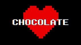 Vintage retro dinámico del lazo de la pantalla de interferencia de la interferencia del texto de la palabra del CHOCOLATE del cor stock de ilustración