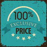 Vintage retro discount, promotion, and sale banner Royalty Free Stock Images