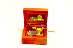 Vintage retro do brinquedo velho do metal da caixa de música Fotografia de Stock