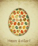 Vintage Retro Easter Card Royalty Free Stock Photos