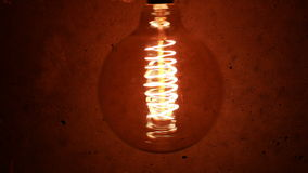 Vintage Retro Edison Lamp Light Bulb stock video footage