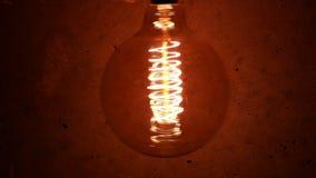 Vintage Retro Edison Lamp Light Bulb stock video footage