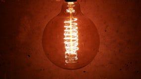 Vintage Retro Edison Lamp Light Bulb stock footage