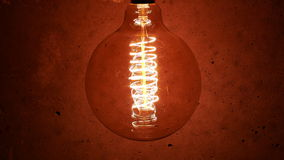 Vintage Retro Edison Lamp Light Bulb stock video