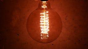 Vintage Retro Edison Lamp Light Bulb stock video